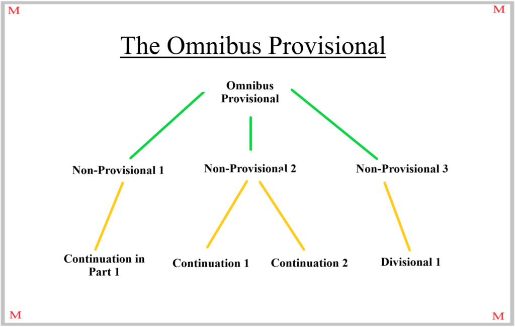 """Visual Representation of the """"Omnibus Provisional"""" Provisional Patent Drafting Strategy"""